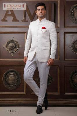 White Designer Jodhpuri Suit with Trouser