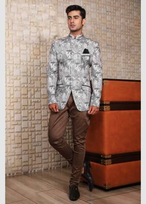 Grey  Jodhpuri Suit with Trouser