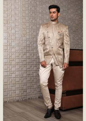 Golden Jodhpuri Suit with Trouser