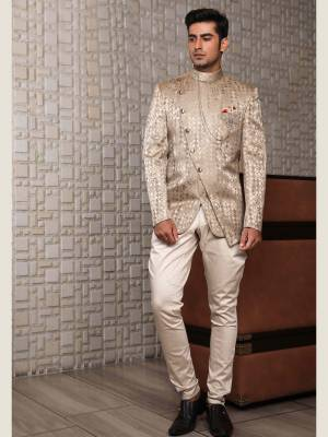 Golden Jodhpuri Suit with Trouser