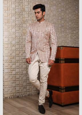 Peach Jodhpuri Suit with Trouser