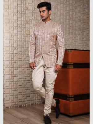 Peach Jodhpuri Suit with Trouser