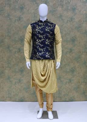 Cream Jacket Kurta Set