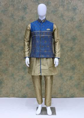 Cream Sky Jacket Kurta Set