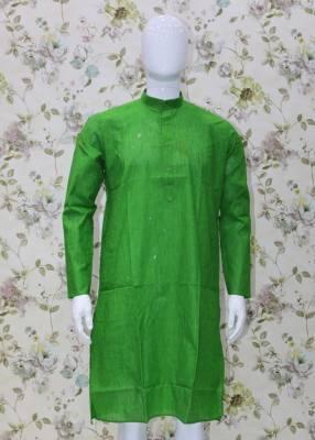 Green Parrot Cotton Kurta