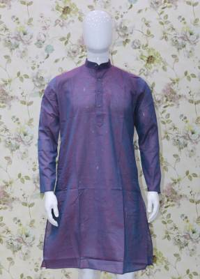 Purple Parrot Cotton Kurta