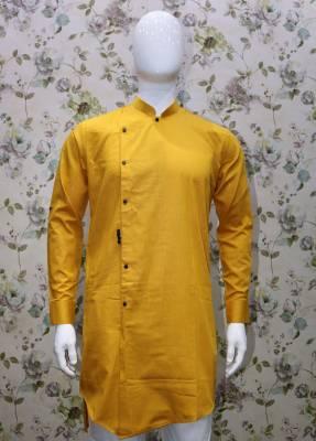 Yellow Stylist Men's Kurta