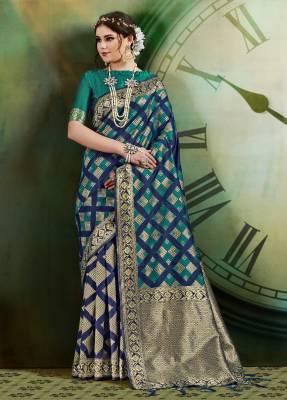 Multi Banarasi Art Silk Saree