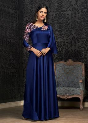 Royal Blue Readymade Designer Dress