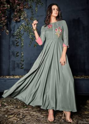 Grey Readymade Designer Dress