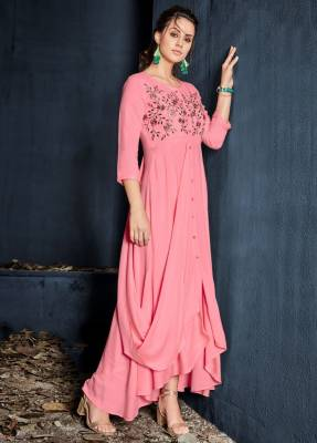Pink Readymade Designer Dress