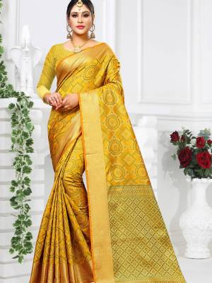 Mustard Yellow Patola Art Silk Saree