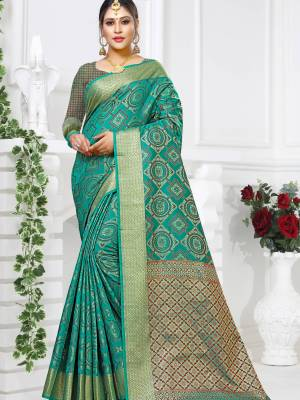 Blue Patola Art Silk Saree