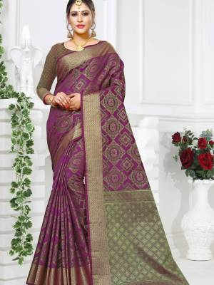 Purple Patola Art Silk Saree