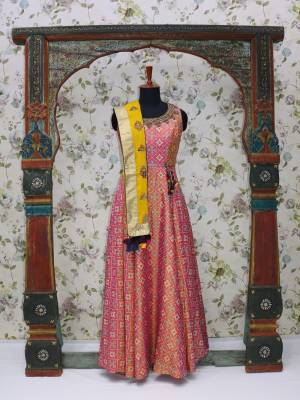 Pink Readymade Designer Dress