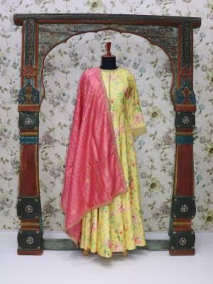 Yellow Readymade Designer Dress