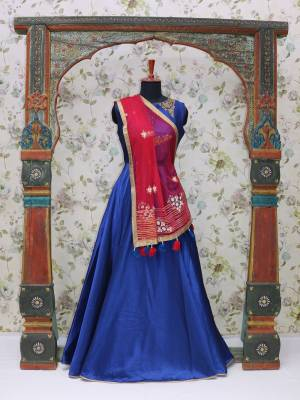 Navy Blue Readymade Designer Dress