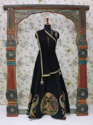Black Readymade Designer Dress