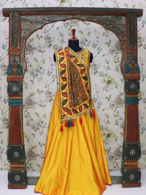 Mustard Readymade Designer Dress