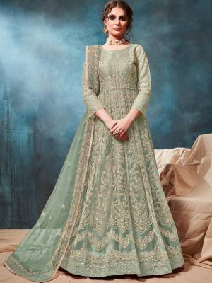 Pastel Green Readymade Designer Dress