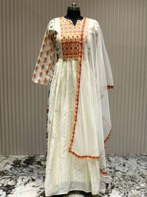 Off White Readymade Designer Dress