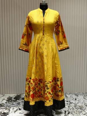 Mustard Yellow Readymade Designer Dress