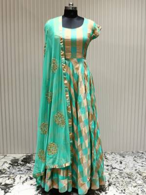 Green Readymade Designer Dress