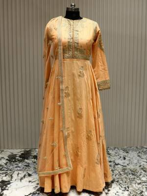 Peach Readymade Designer Dress