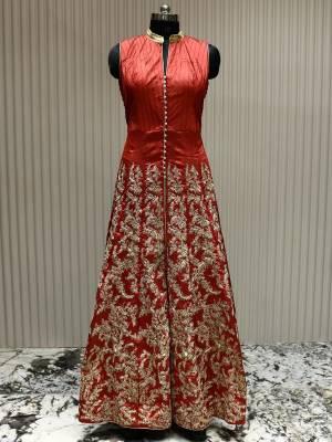 Dark Carrot Readymade Designer Dress