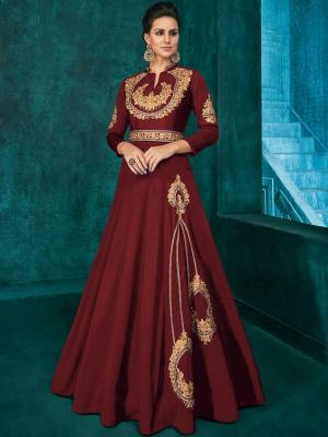Maroon Soft Art Silk Dress