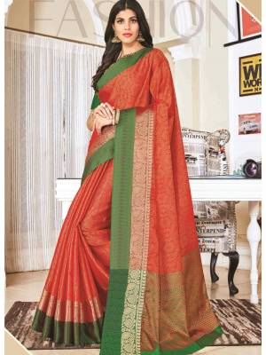 Red Jacquard Silk Saree